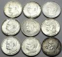 LOT 9 x 50000 zł 1988 Piłsudski INWESTYCJA SREBRO
