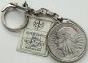 5 zł złotych 1933 Głowa kobiety W OPRAWIE SREBRNEJ