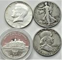 LOT 4x 1/2 Dolara Franklin Kennedy Bogini Wolności