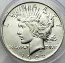 USA 1 dolar USA 1922 Peace SREBRO