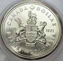 Kanada 1 Dolar 1971 Kolumbia Brytyjska SREBRO