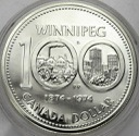 Kanada 1 dolar 1975 SREBRO, 100 lat Winnipeg