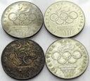 LOT 4 x 200 zł 1976 OLIMPIADA INWESTYCJA SREBRO