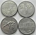 4 x 2 zł 1995 Łazienki Atlanta Bitwa Warszawska