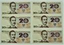 LOT 6 x 20 zł złotych, Romuald Traugutt