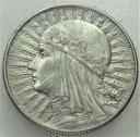 5 zł złotych 1932 Głowa kobiety, Polonia, babka