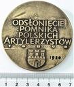 Medal Odsłonięcie Pomnika Polskich Artylerzystów