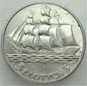 5 zł złotych 1936 Żaglowiec Żaglówka Statek PIĘKNA