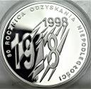 10 zł złotych 1998 R. Odzyskania Niepodległości