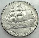 2 zł złote 1936 Żaglowiec Statek