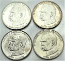 LOT 4 x 50000 zł 1988 Piłsudski INWESTYCJA SREBRO