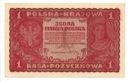 1919 1 Jedna Marka Polska I Serja HX
