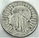 5 zł złotych 1933 Głowa kobiety, Polonia, babka
