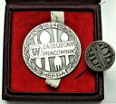 Medal Zasłużony Pracownik Hefra 1824 SREBRO RZADKI