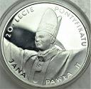 10 zł złotych 1998 Jan Paweł II 20-l Pontyfikatu
