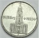 2 Marki 1934 A z datą, data. Wieża Kościół RZADKA