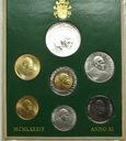 Zestaw monet Watykan 1989 z AG Jan Paweł II