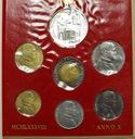 Zestaw monet Watykan 1988 z AG Jan Paweł II