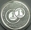 Złotogrosz Nowa Polska Moneta 1995 Ag999 RZADKA