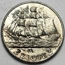2 zł złote 1936 Żaglowiec Żaglówka Statek SREBRO