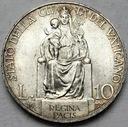 Watykan 10 Lirów 1937 Pius XI