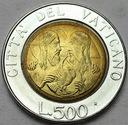 Watykan 500 Lirów 1988 Jan Paweł II