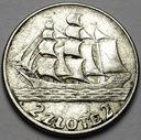 2 zł złote 1936 Żaglowiec Żaglówka Statek