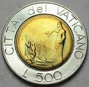 Watykan 500 Lirów 1991 Jan Paweł II