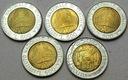 Włochy LOT 5 x 500 Lirów MIX MENNICZE Z ROLKI nr98