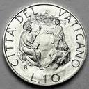 Watykan 10 Lirów 1989 Jan Paweł II