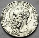Watykan 20 Centesimo 1939