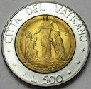Watykan 500 Lirów 1990 Jan Paweł II