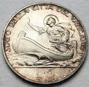 Watykan 5 Lirów 1940 Pius XII