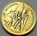 2 zł, złote 1998 Niepodległość