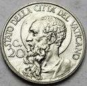 Watykan 20 Centesimo 1933 1934