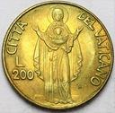Watykan 200 Lirów 1990 Jan Paweł II