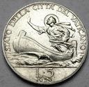 Watykan 5 Lirów 1930 Pius XI
