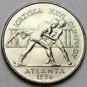 2 zł, złote 1995, Atlanta Zapasy ŁADNA POLECAMY