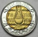 Watykan 500 Lirów 1993 Jan Paweł II