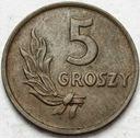 5 gr, pięć groszy 1949 Brąz