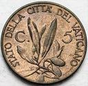 Watykan 5 Centesimo 1940