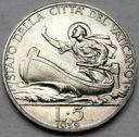 Watykan 5 Lirów 1939 Pius XII