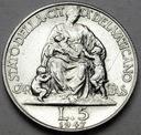 Watykan 5 Lirów 1947 Pius XII