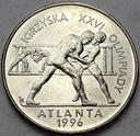 2 zł, złote 1995, Atlanta Zapasy Połysk Polecamy