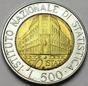 Włochy 500 Lirów 1996 ISTAT