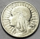 2 złote 1933 Głowa kobiety, babka, Polonia SREBRO
