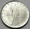 Watykan 100 Lirów 1964 Paweł VI
