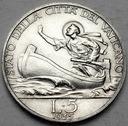 Watykan 5 Lirów 1935 Pius XI