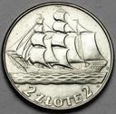 2 zł złote 1936 Żaglowiec Żaglówka Statek ŁADNY
