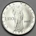 Watykan 100 Lirów 1965 Paweł VI
